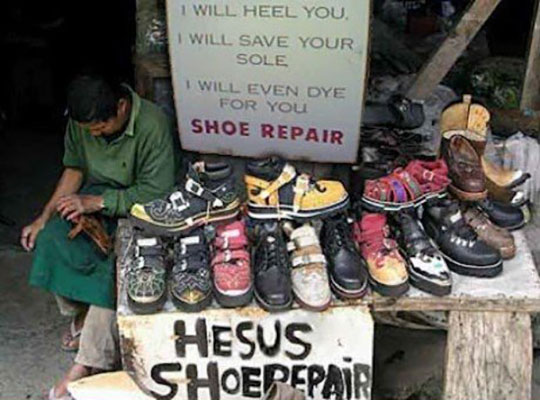funny-street-repair-shoe-sign-Jesus