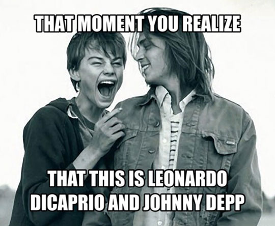 funny-teen-Leonardo-DiCaprio-Johnny-Depp