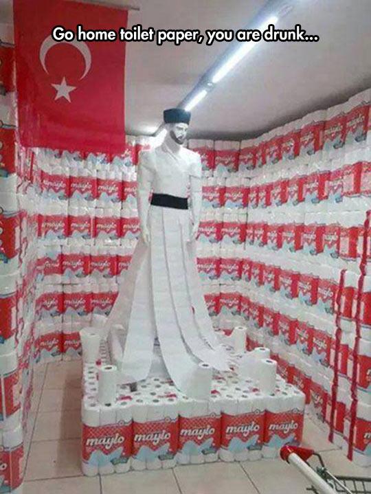 Toilet Paper Art In Turkey