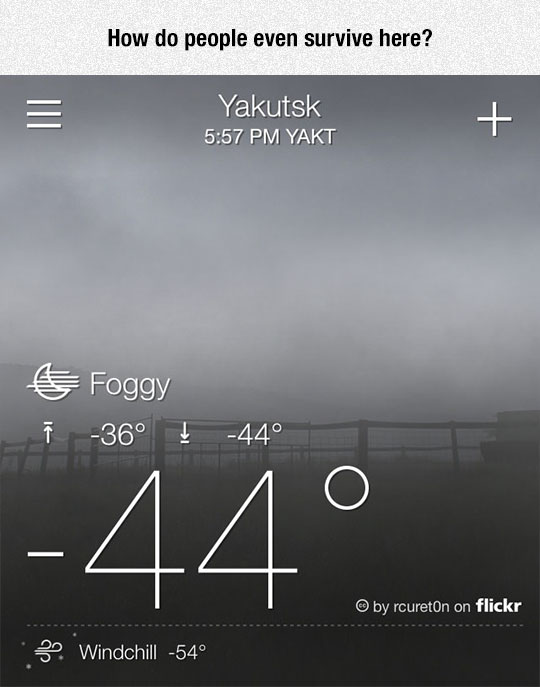 One Of The Coldest Inhabited Places On Earth