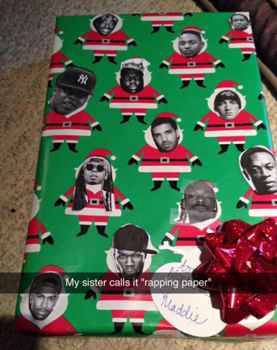 Funny Gift Wrapping Meme : Cool rapper s paper