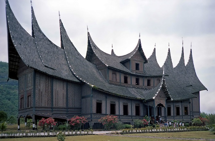 An incredible roof over a longhouse