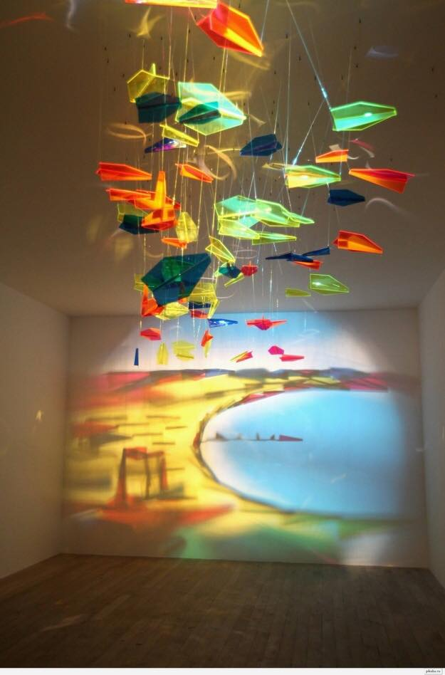 Painting with light through colored glass