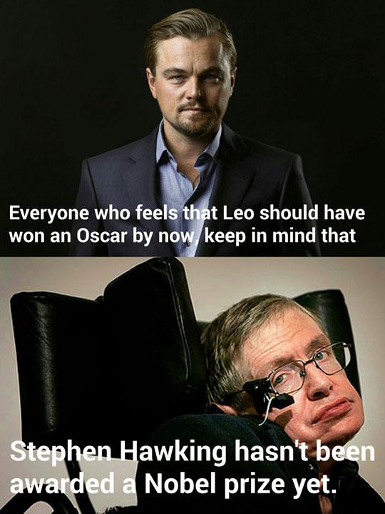 cool-Leonardo-DiCaprio-Stephen-Hawking-award