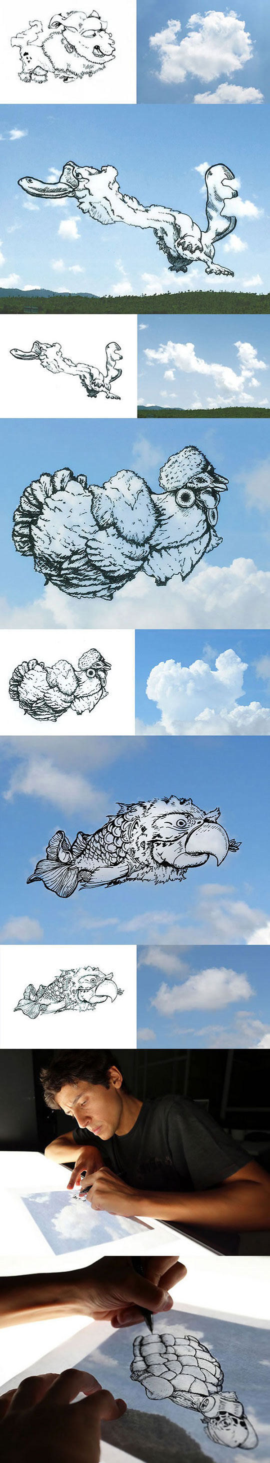 cool-cloud-animals-drawing-artist