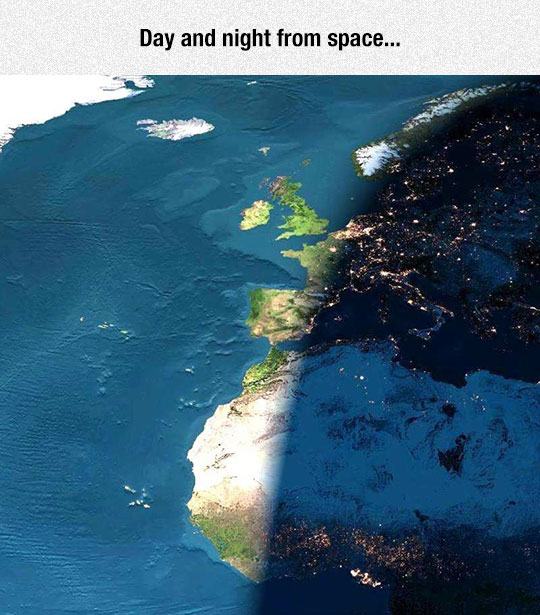 Everything Looks Cooler From Space