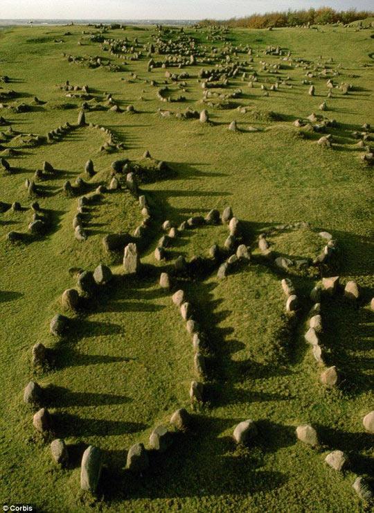 Viking Burial Mounds In Denmark