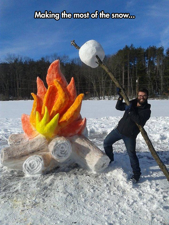 cool-snow-fire-sculpture-branch