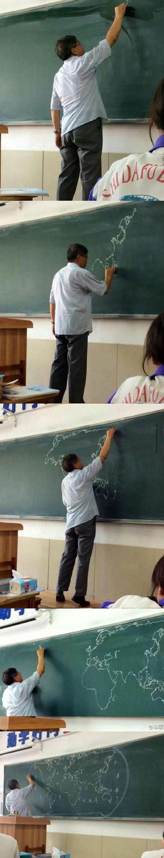 cool-teacher-drawing-world-map-memory