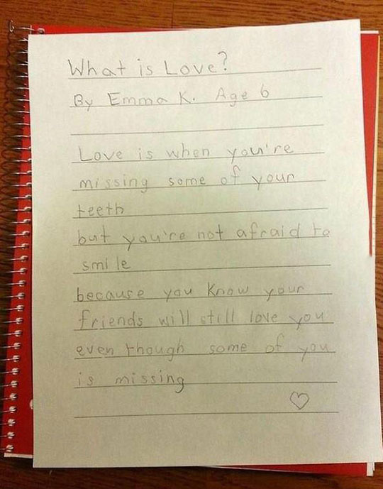 Can You Believe A 6 Year Old Wrote This?