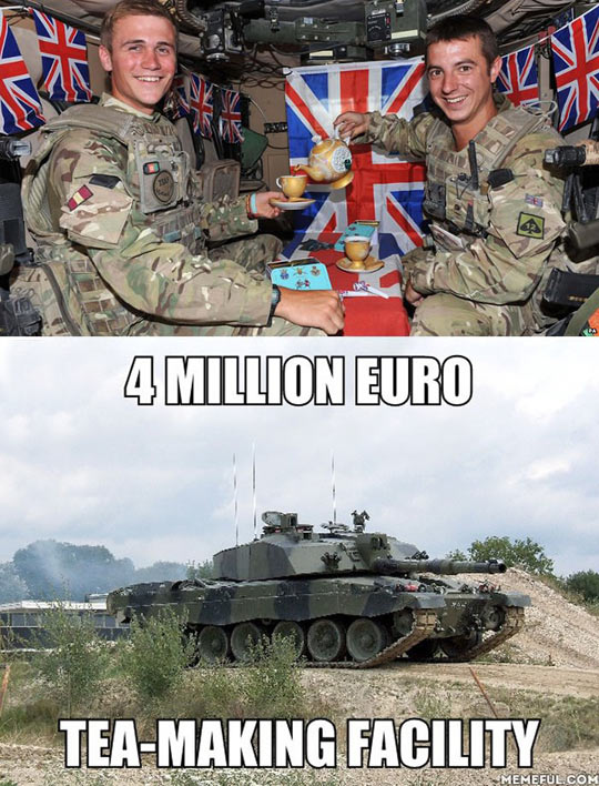 Meanwhile At The British Army Facilities