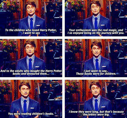 funny-Daniel-Radcliffe-SNL-books-adults