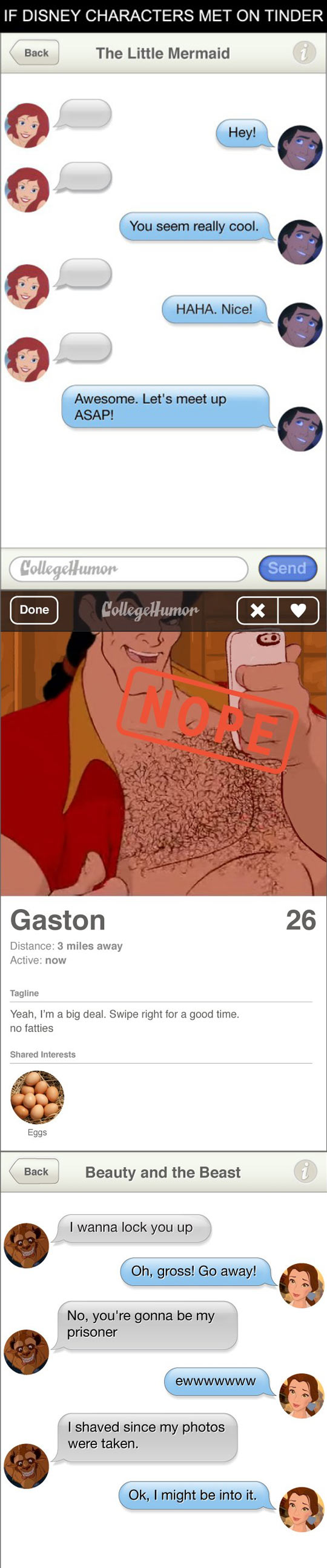 Disney Characters On Tinder