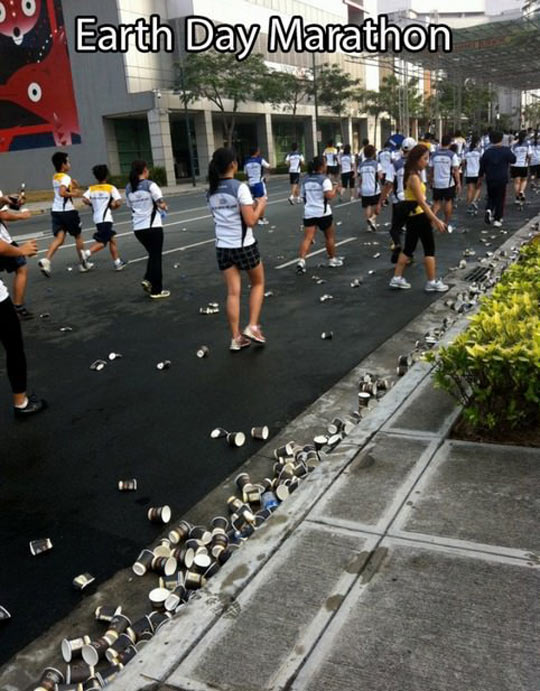 funny-Earth-Day-marathon-cups-trash-streets