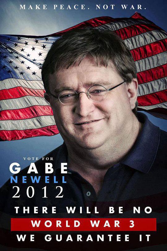 Gabe Newell 2012 Presidential Propaganda