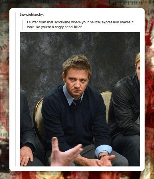 funny-Jeremy-Renner-resting-face-serial-killer