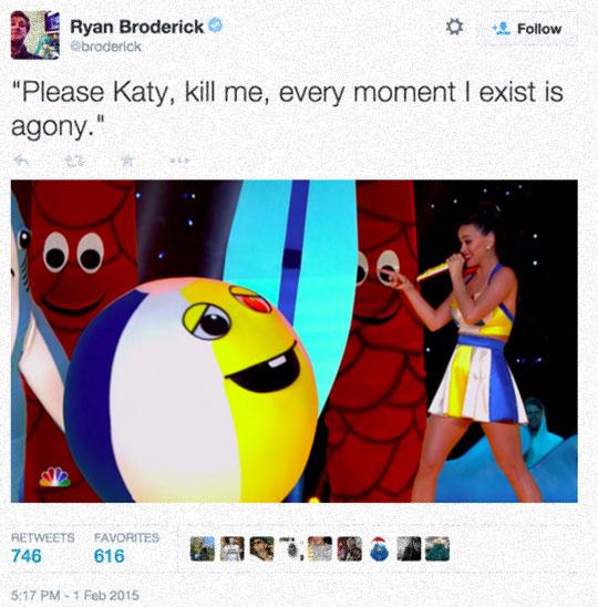 Sad Ball Asks Katy For Mercy