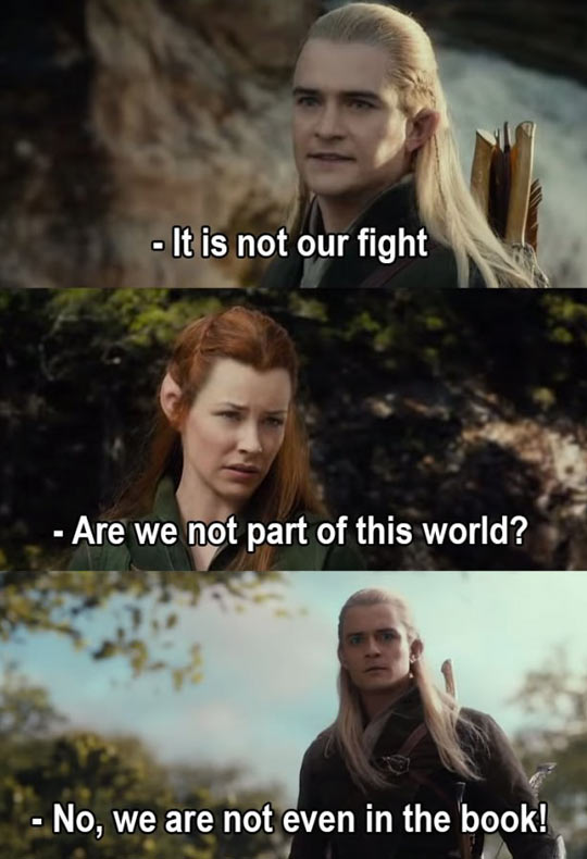 Thanks For Saying It, Legolas