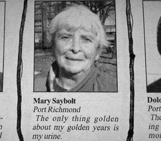 The Not So Golden Years