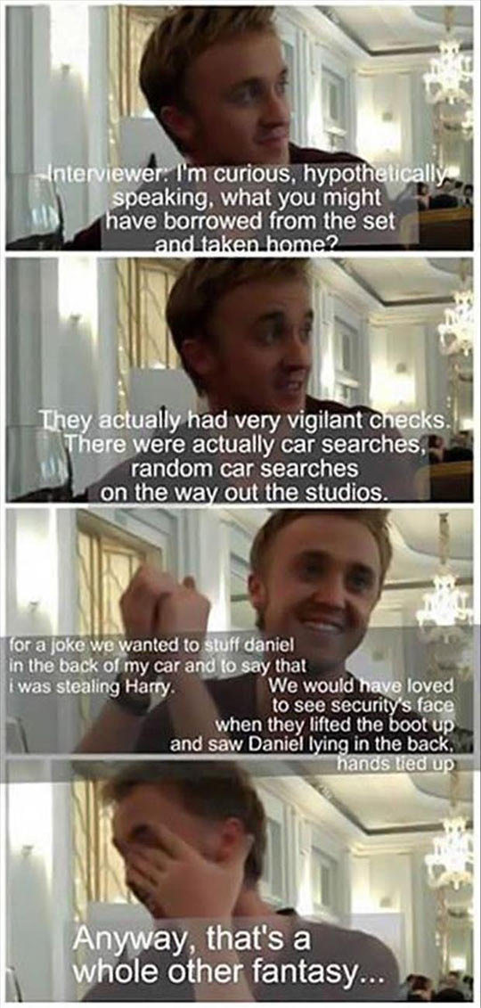 Tom Felton Is Hilarious