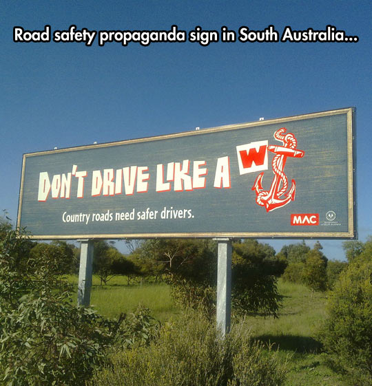 Funny Sign About Road Safety
