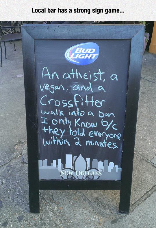 Local Bar Humor
