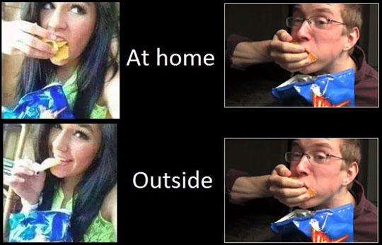 When Men Eat Vs. When Women Eat
