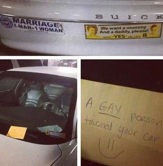 Gay Vandalism