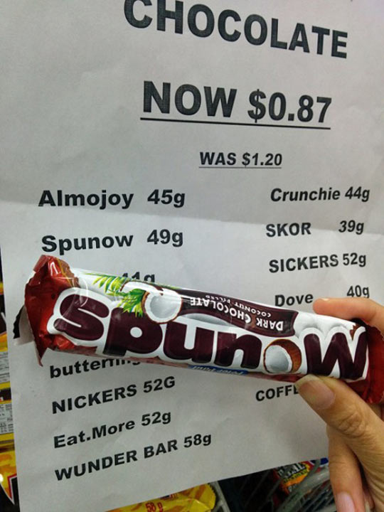 I'll Take One Spunow And One Sickers, Please