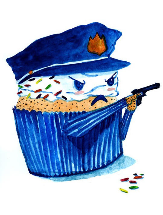 funny-cop-cupcake-drawing-cute