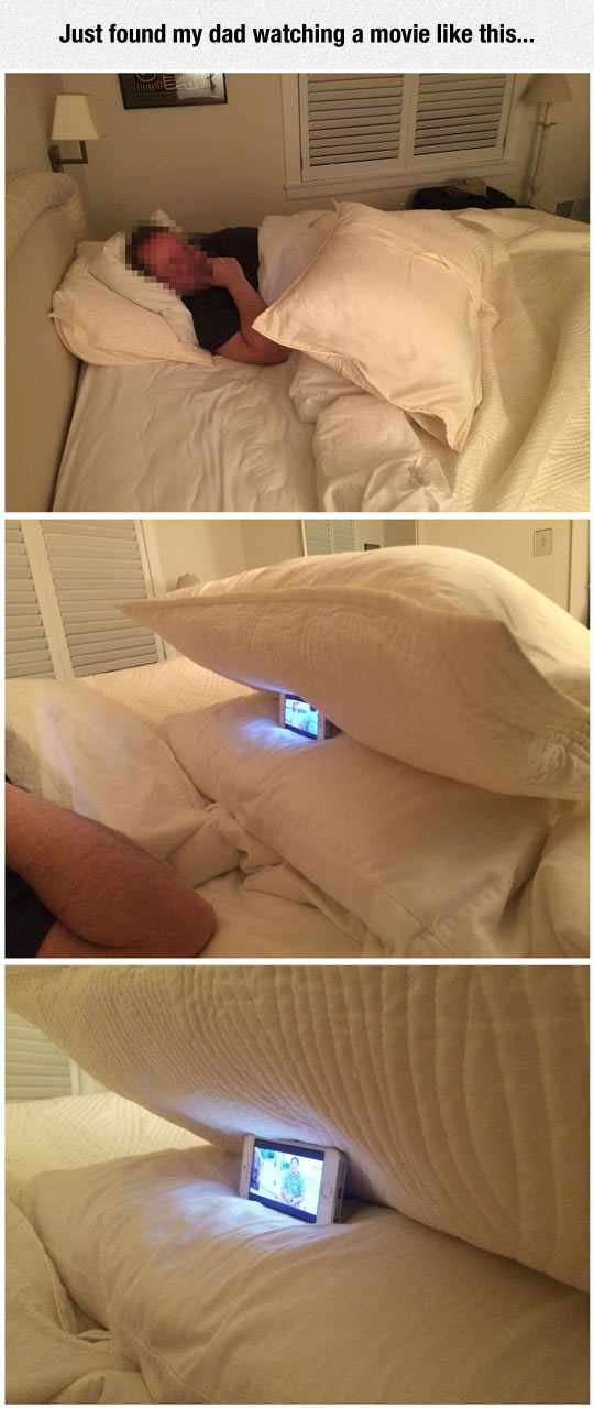 funny-father-watching-movie-phone-pillow