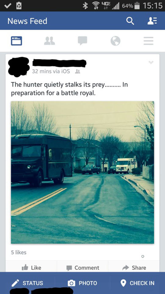 Hunter Stalking Its Prey