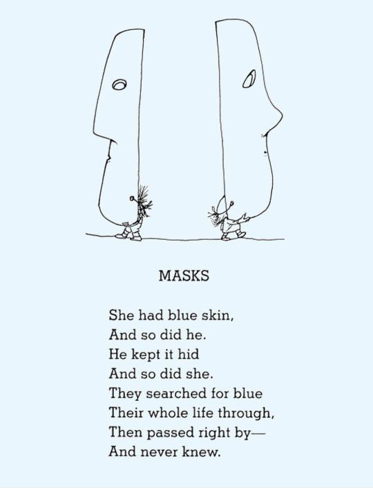 funny-mask-blue-skin-poem