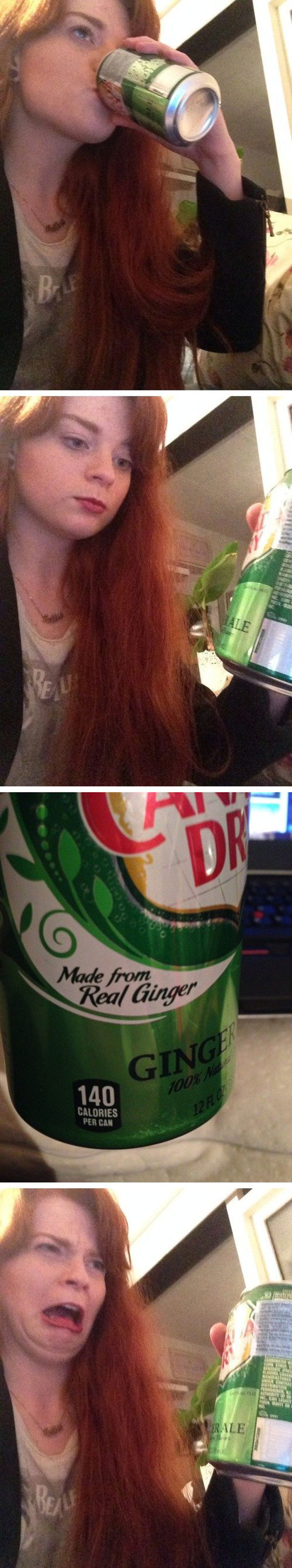 funny-red-head-girl-drinking-Canada-Dry
