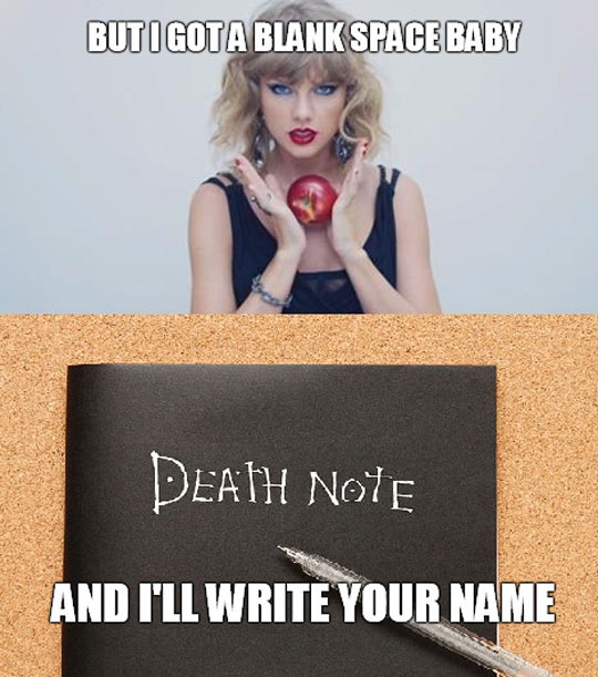 funny-song-apple-Death-Note-blank-space
