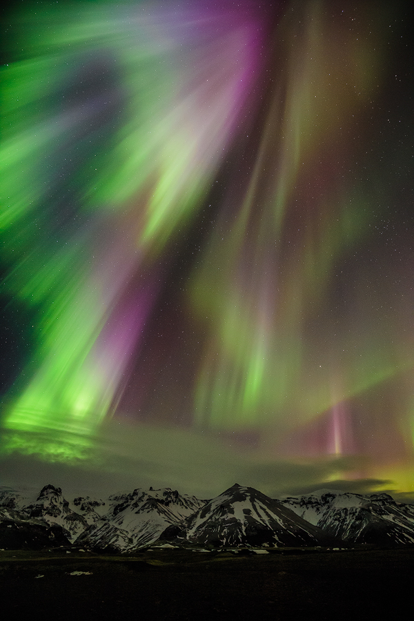 Finally saw the northern lights! Got lucky and was in Iceland during the solar storm last week.
