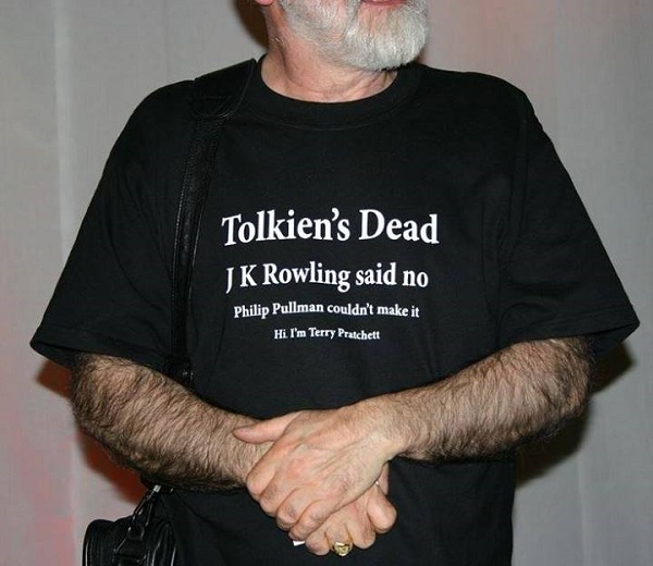 RIP Terry Pratchett, always wore this shirt to conventions.