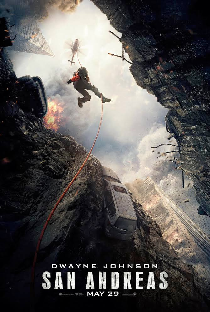 San Andreas Movie Poster, action-adventure disaster film starring Dwayne Johnson
