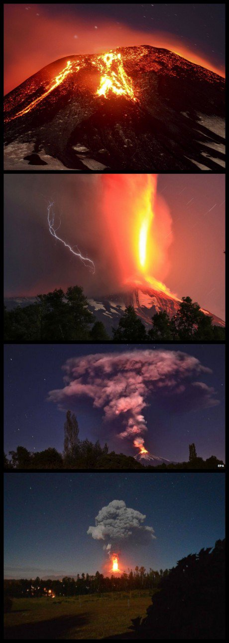 The Villarrica volcanic eruption is a thing of destructive beauty