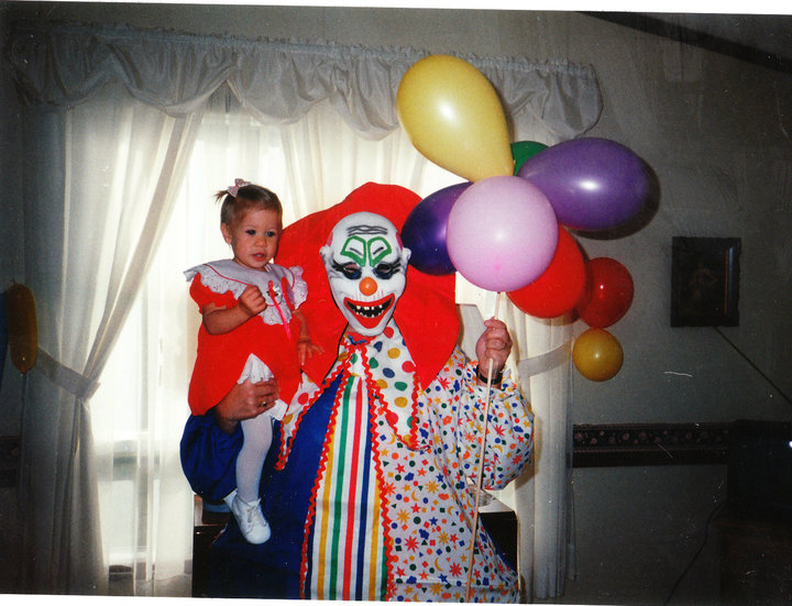 The clown that attended my first birthday party back in '93. Not entirely sure what my parents were thinking.