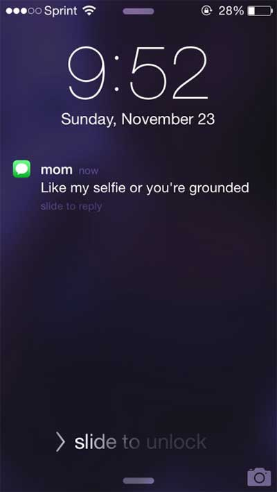 awkward-parent-text-selfie-grounded