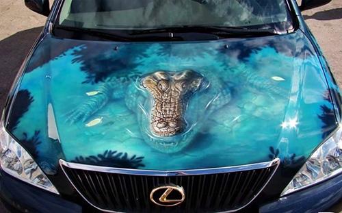 car-art-alligator