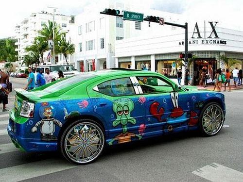 car-art-spongebob