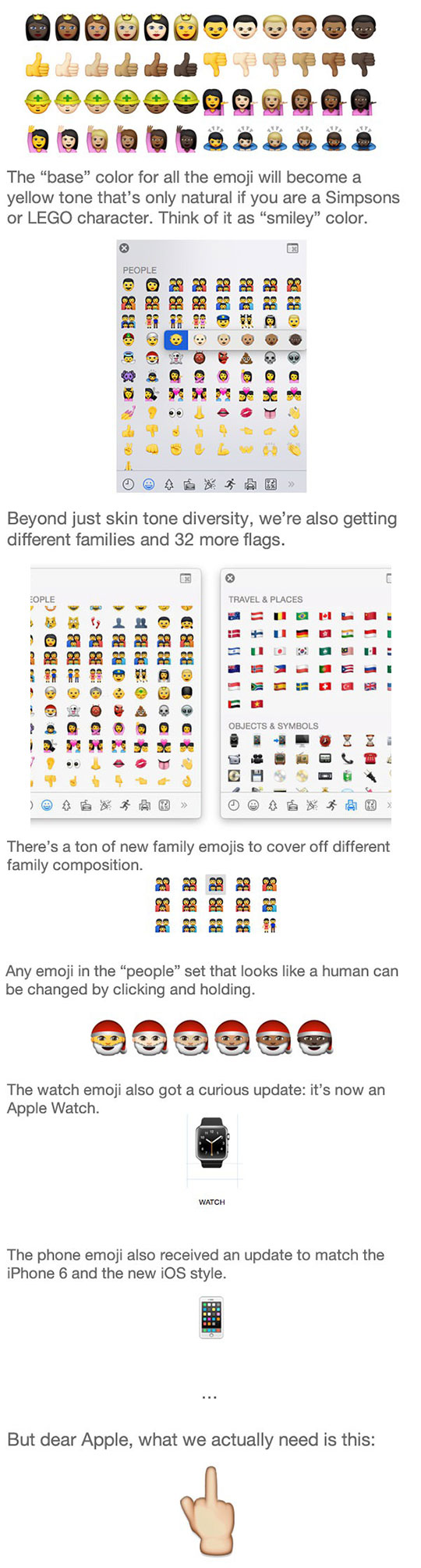 These Are Apple's New, Diverse Emoji