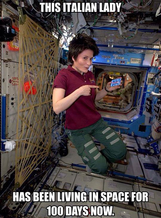 cool-Italian-astronaut-woman-floating