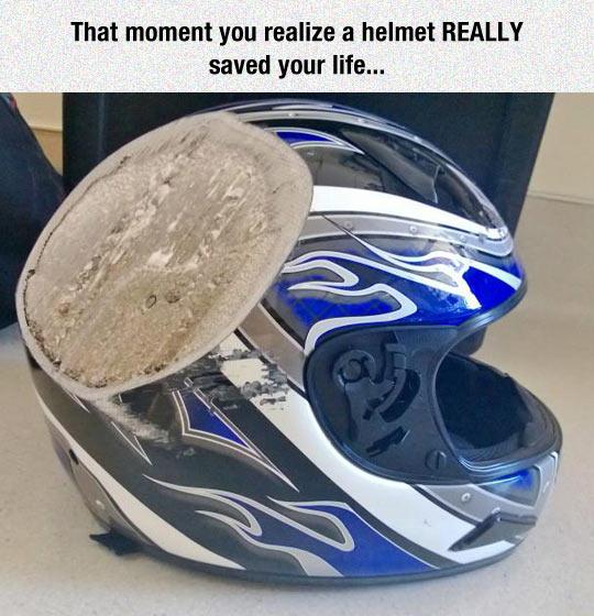 cool-broken-helmet-saved-head