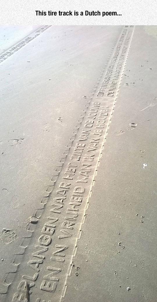 Dutch Poem On A Tire