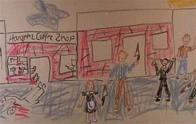 creepy-kids-drawings-murder-coffee-shop