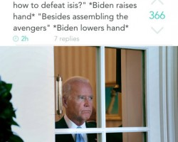 Biden Looks Disappointed