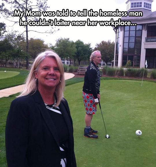 funny-Bill-Murray-golf-course-homeless